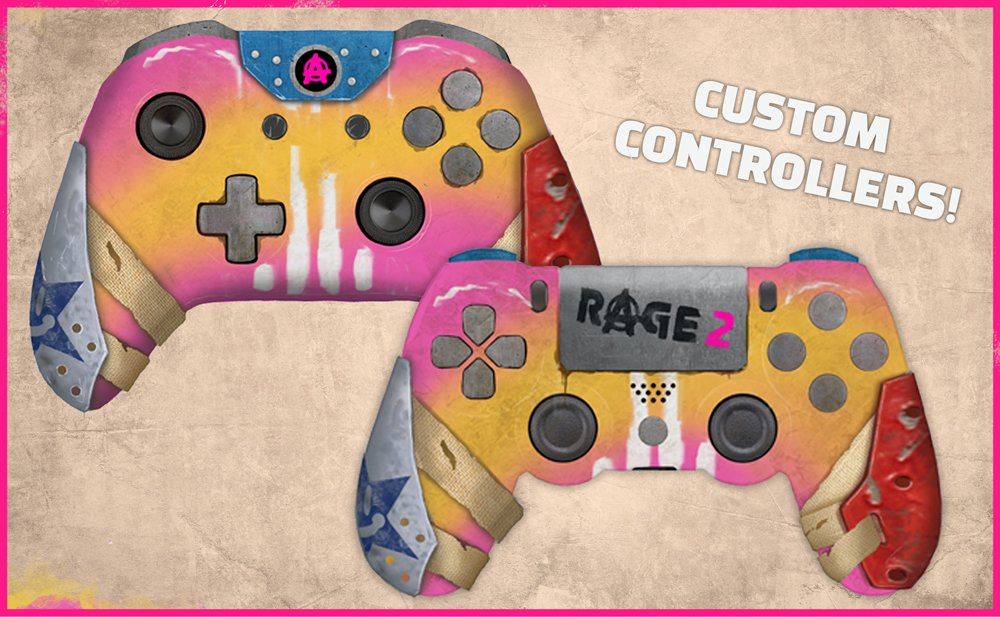 RAGE 2 controller PS4 Xbox One