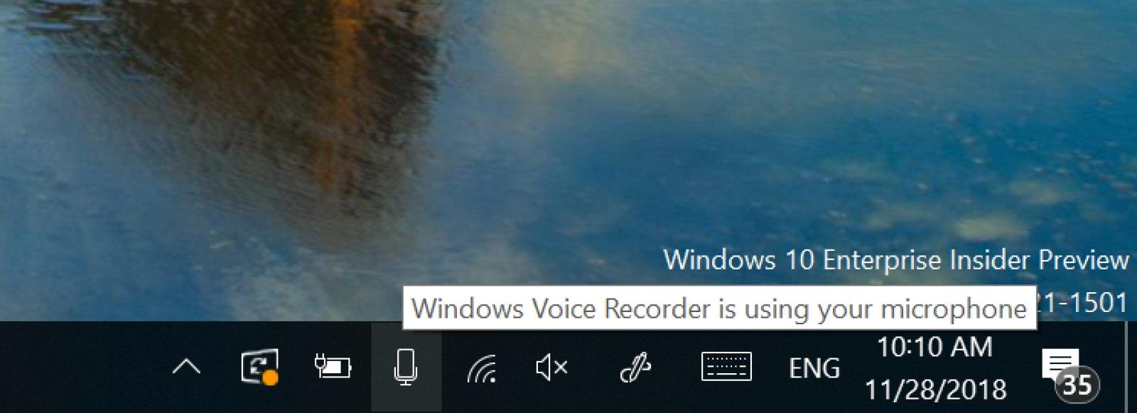 Windows 10 ora mostra quali app usano il microfono 1