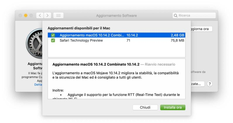 macOS 10.14.2 e tvOS 12.1.1 disponibili al download 1
