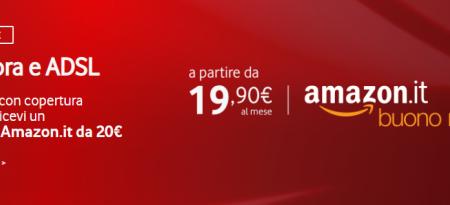 Buono Amazon offerta Vodafone FTTc e FTTH