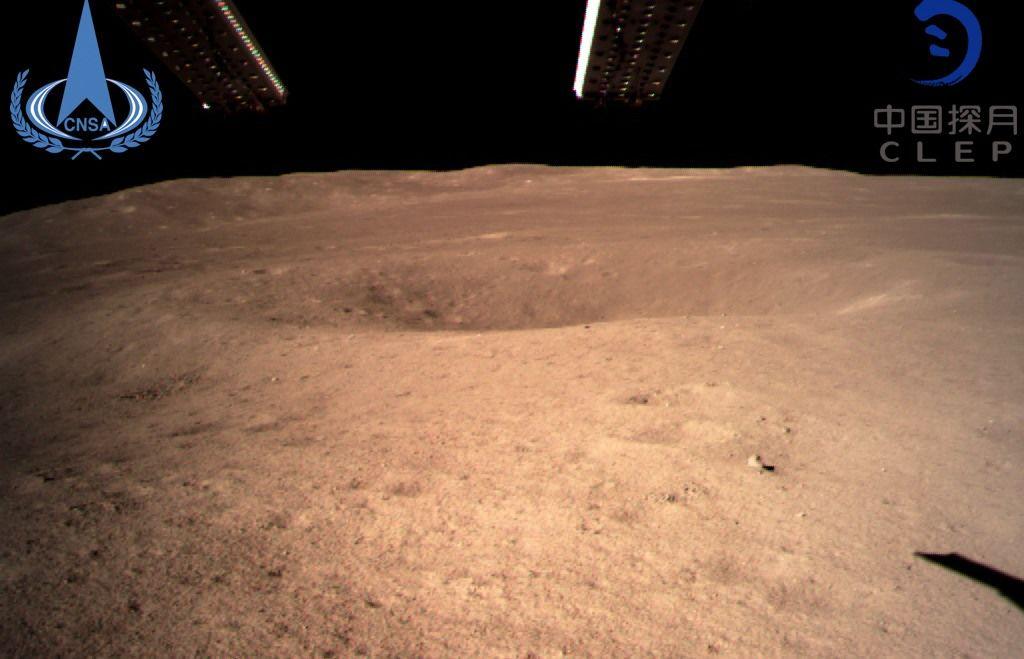 Chang'e-4 foto lunare lato nascosto