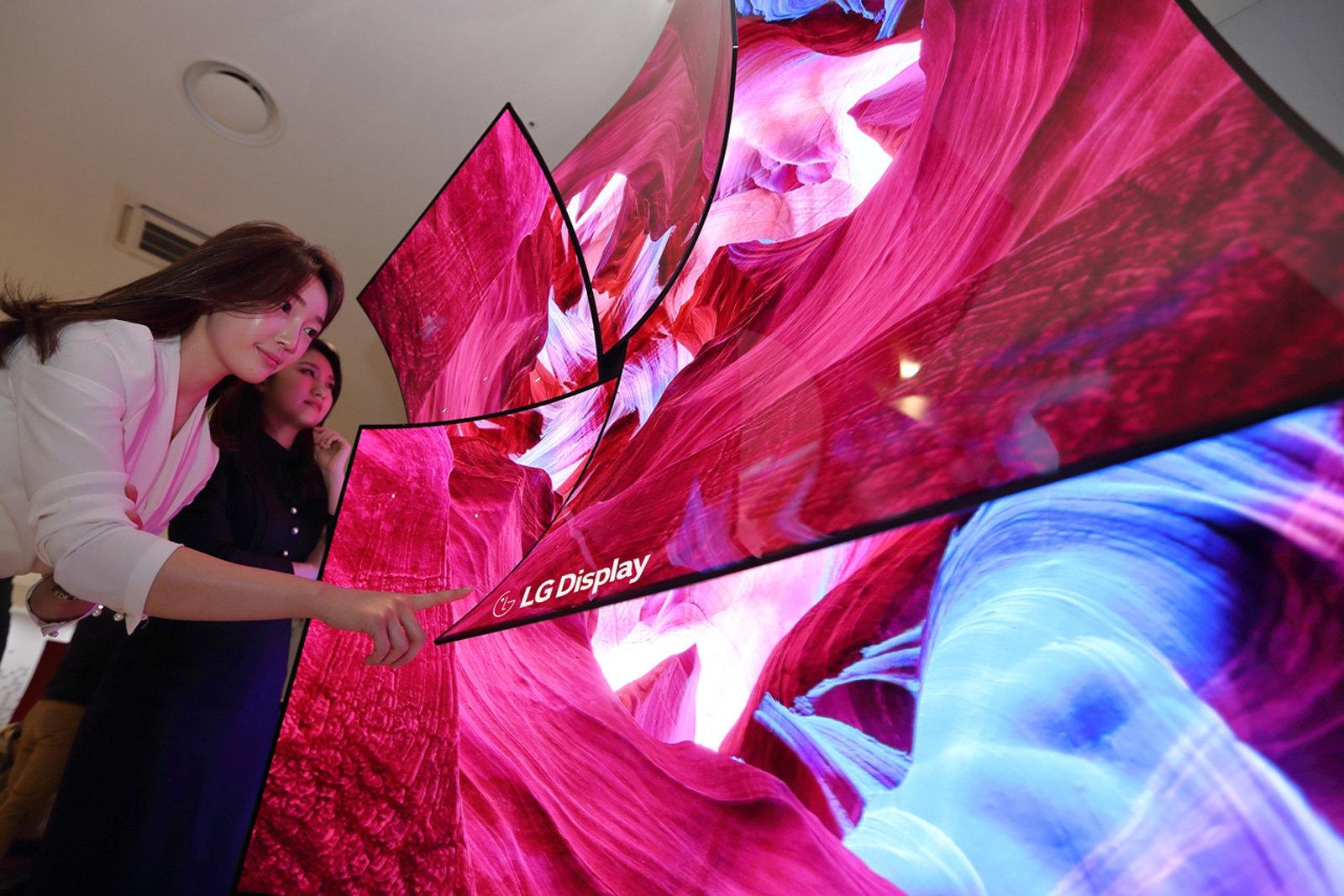LG TV OLED flessibile CES 2019