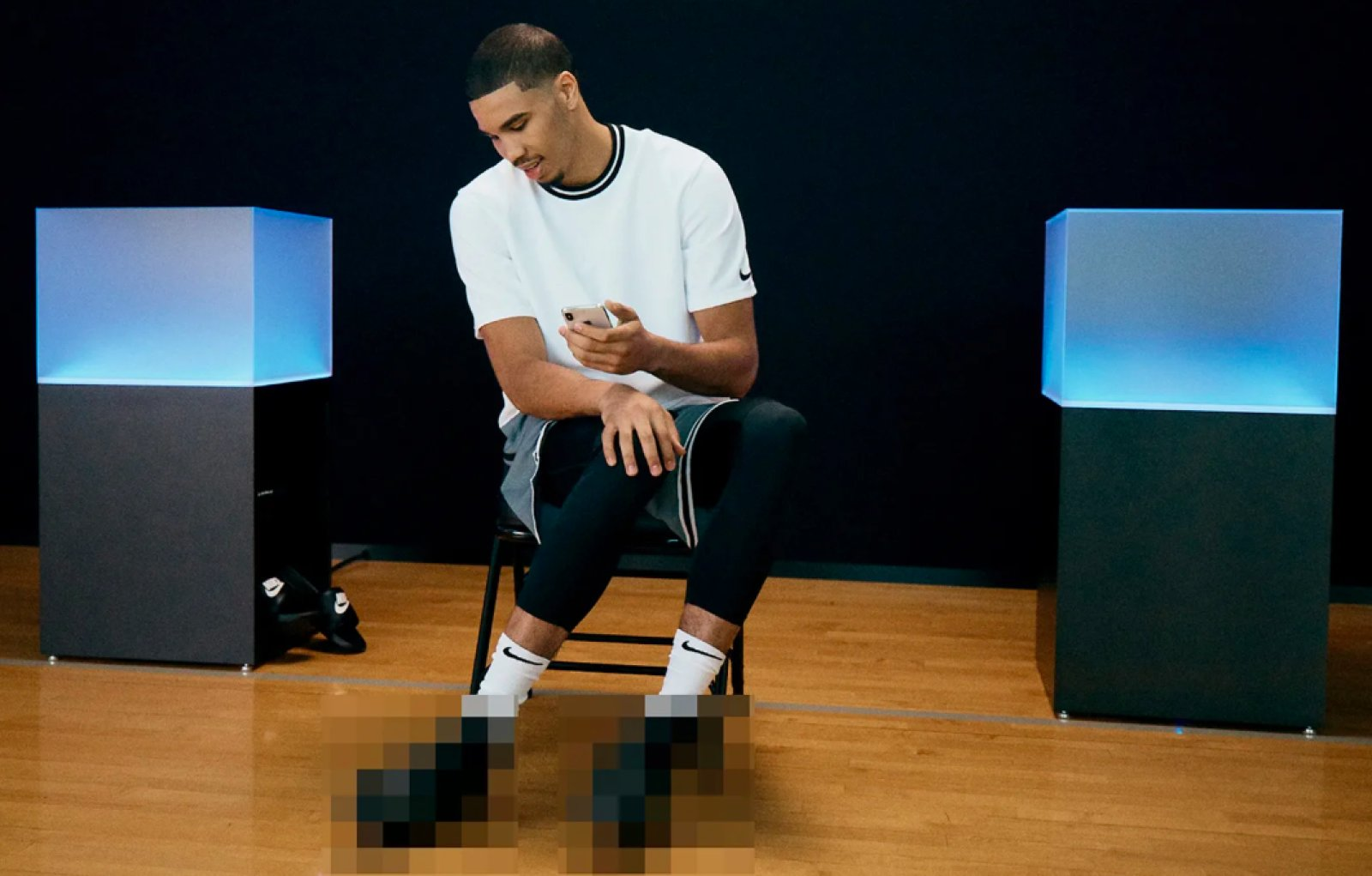 Nike scarpe auto allaccianti da basket NBA