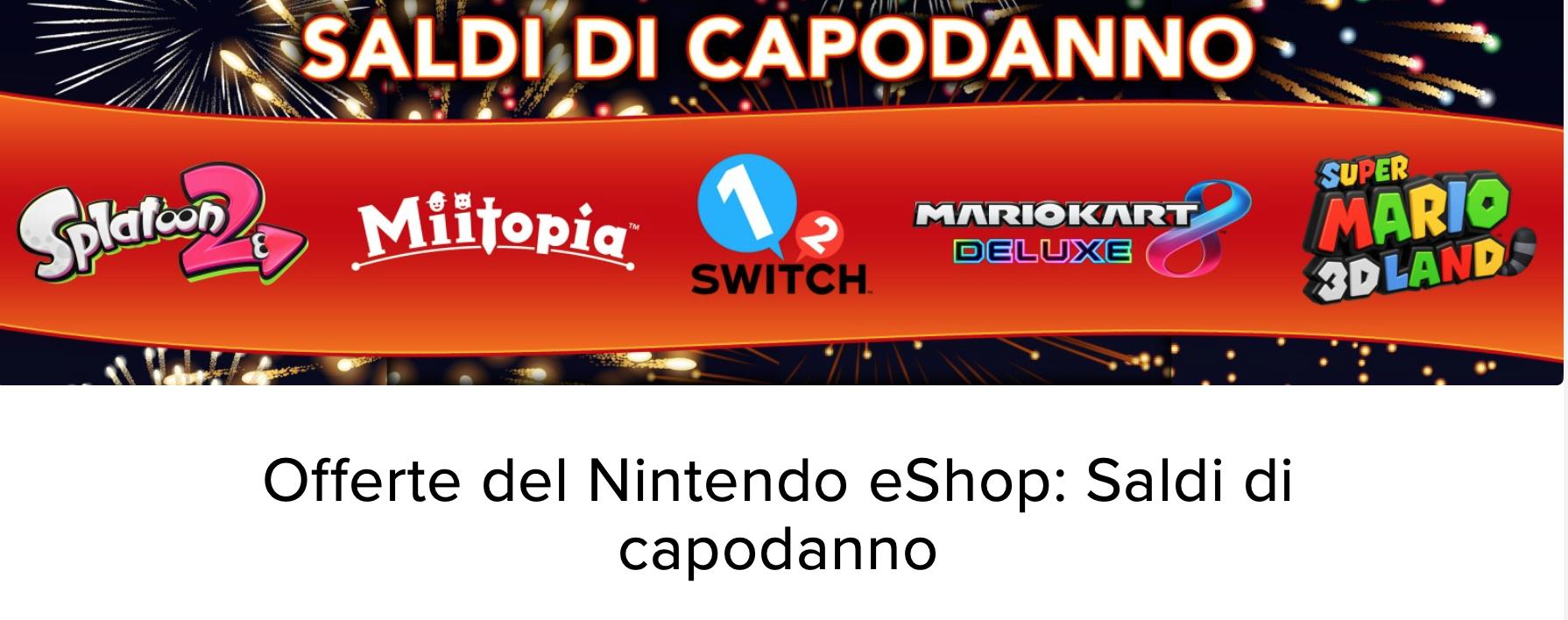 Nintendo Switch saldi capodanno
