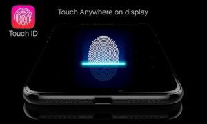 iPhone 2019 Touch ID ultrasuoni