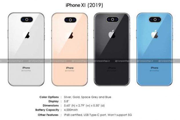 Nuovi render per iPhone XI, la presenza della tripla fotocamera sembra essere ormai cosa certa 1