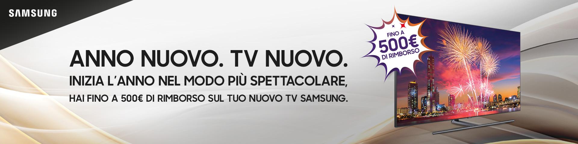 Samsung rimborsa fino a 500 euro sull'acquisto di una sua Smart TV 1