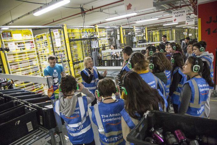 Amazon tour magazzini
