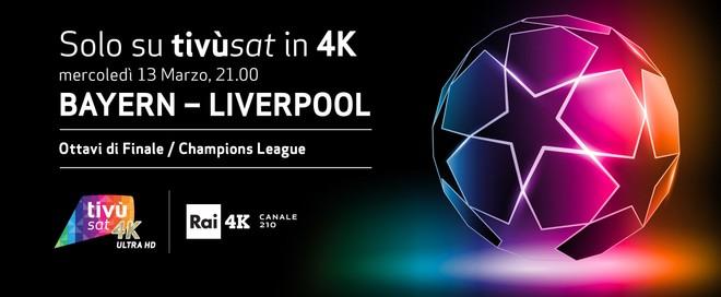 Bayern Monaco - Liverpool di Champions League in diretta su Sky 4K e Rai 4K il 13 marzo 1