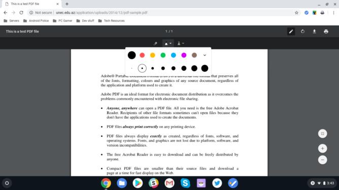 Chrome OS 74 permette di prendere annotazioni sui PDF