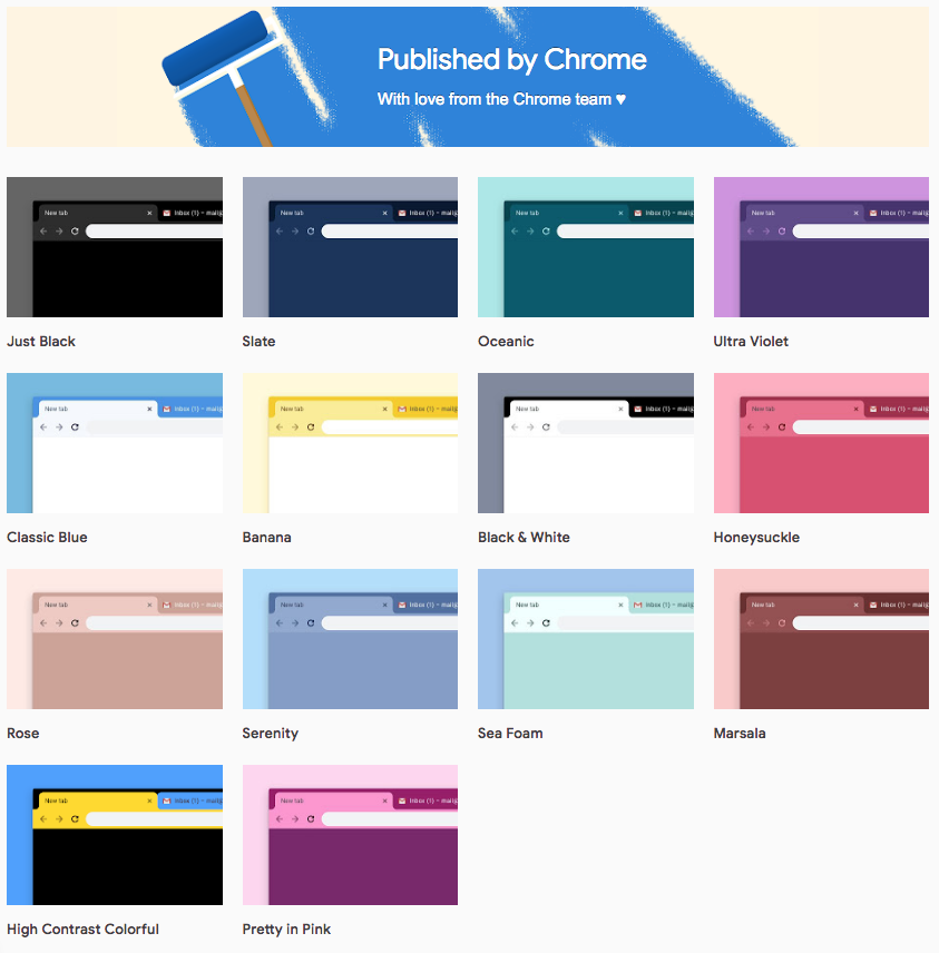 Google Chrome si arrichisce di 12 nuovi temi ufficiali, di cui uno totalmente Black 1