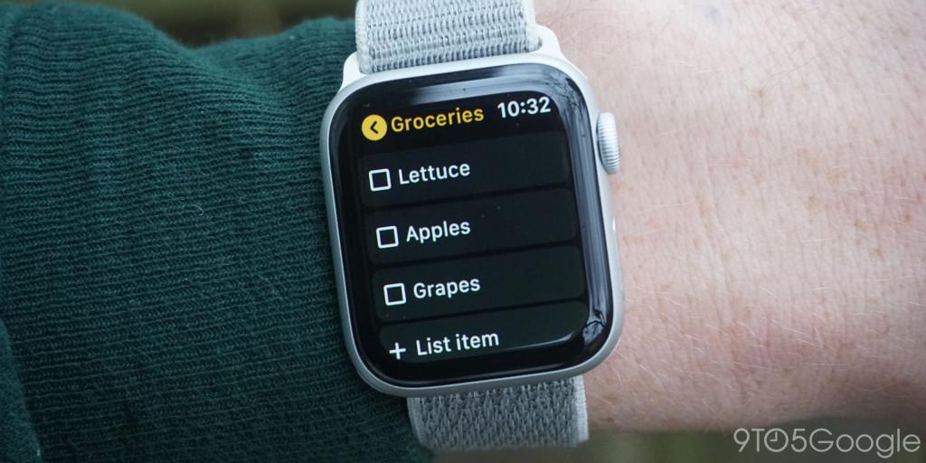 Google Keep Apple Watch