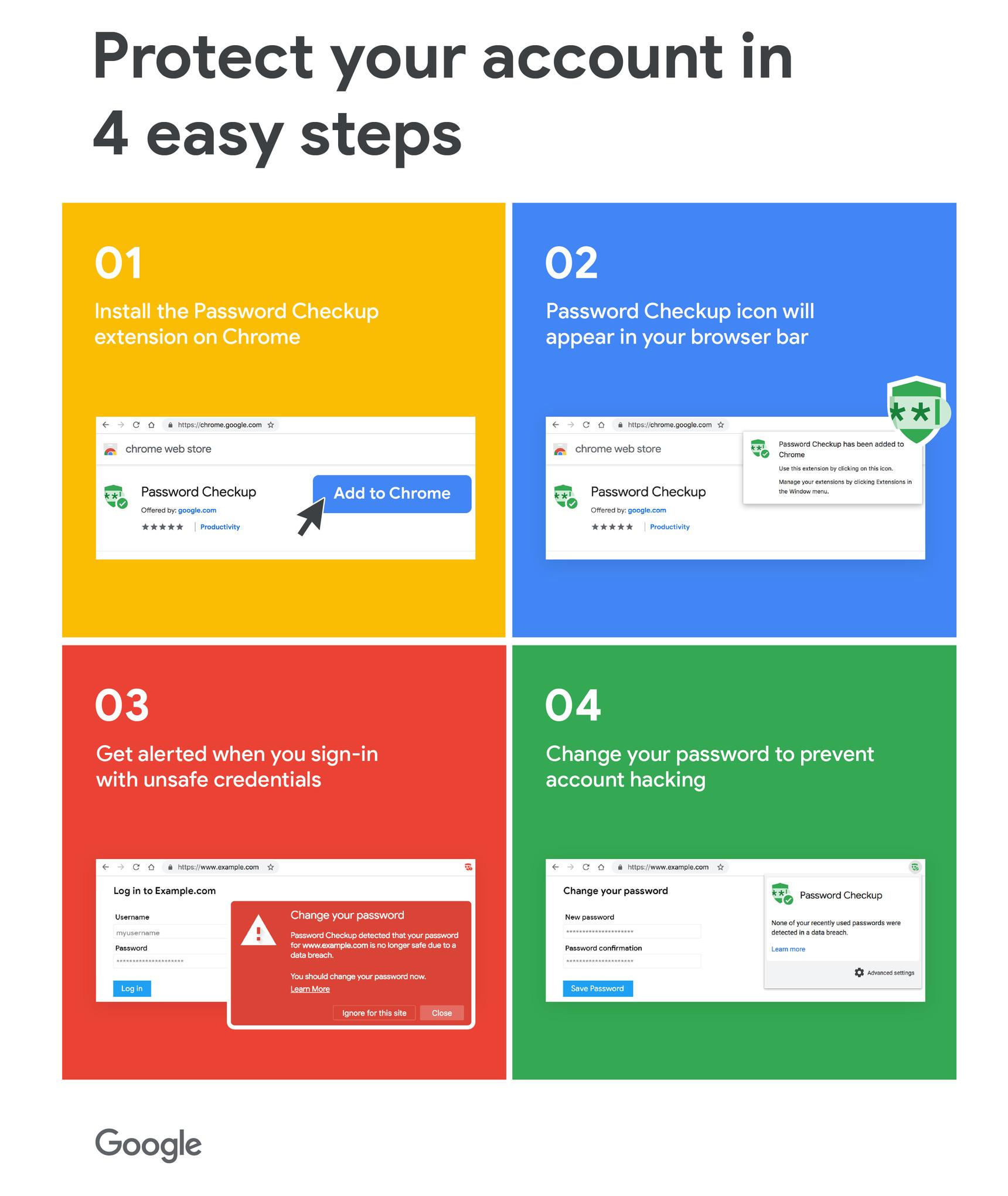 Google Password Checkup è un'estensione di Chrome che rafforza la sicurezza dei nostri account 1