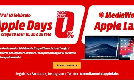 Mediaworld Apple Days e Apple Labs