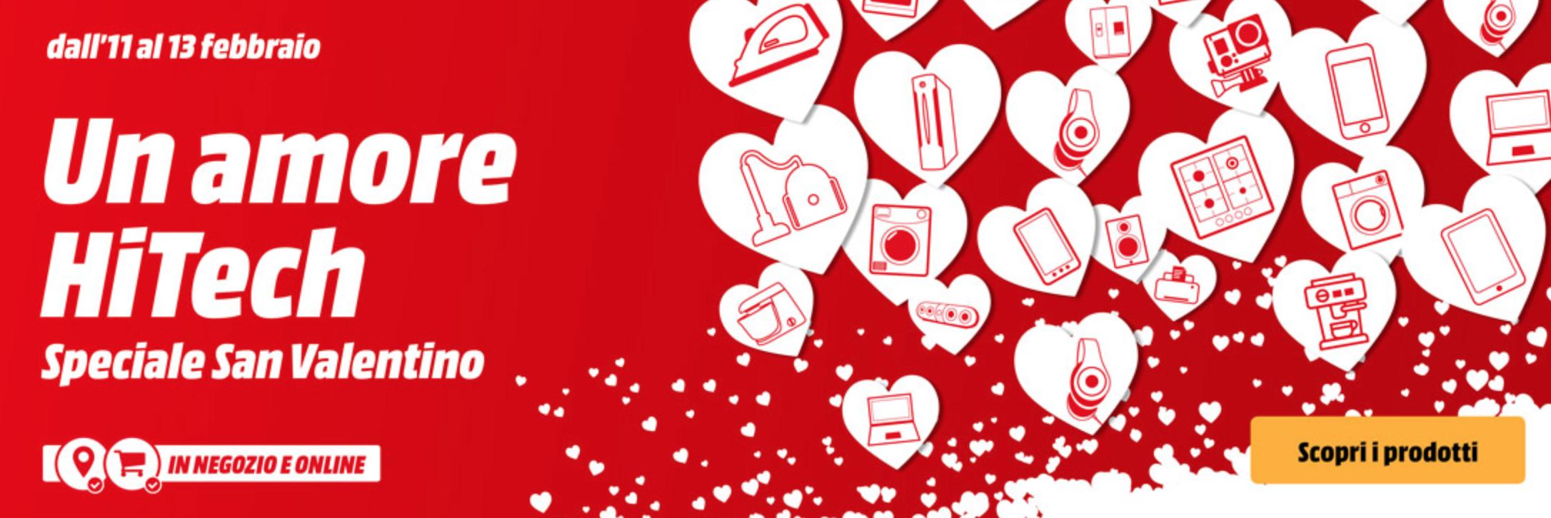 Migliori offerte MediaWorld San Valentino