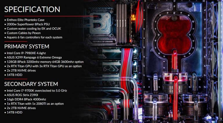 Orion X2 è un computer da 38.000 euro con doppia CPU Intel Core i7-7980XE e Core i7-9700K 1