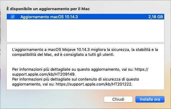 macOS 10.14.3 disponibile al download con la risoluzione del bug di FaceTime 2