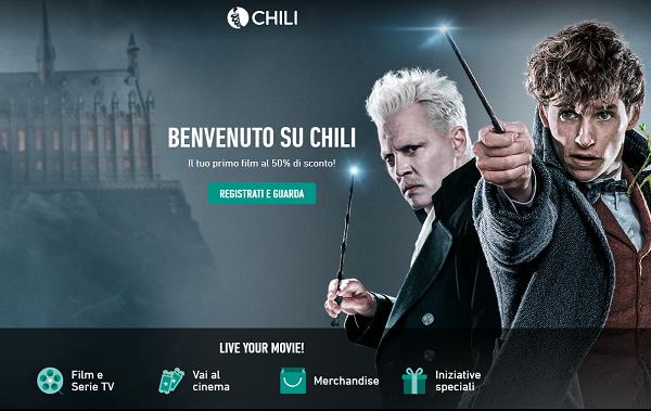 Chili offre uno sconto del 50% ai nuovi iscritti 1