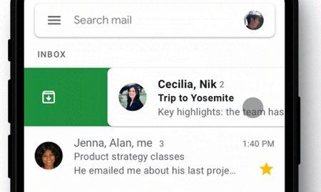 Gmail per iOS swipe laterali