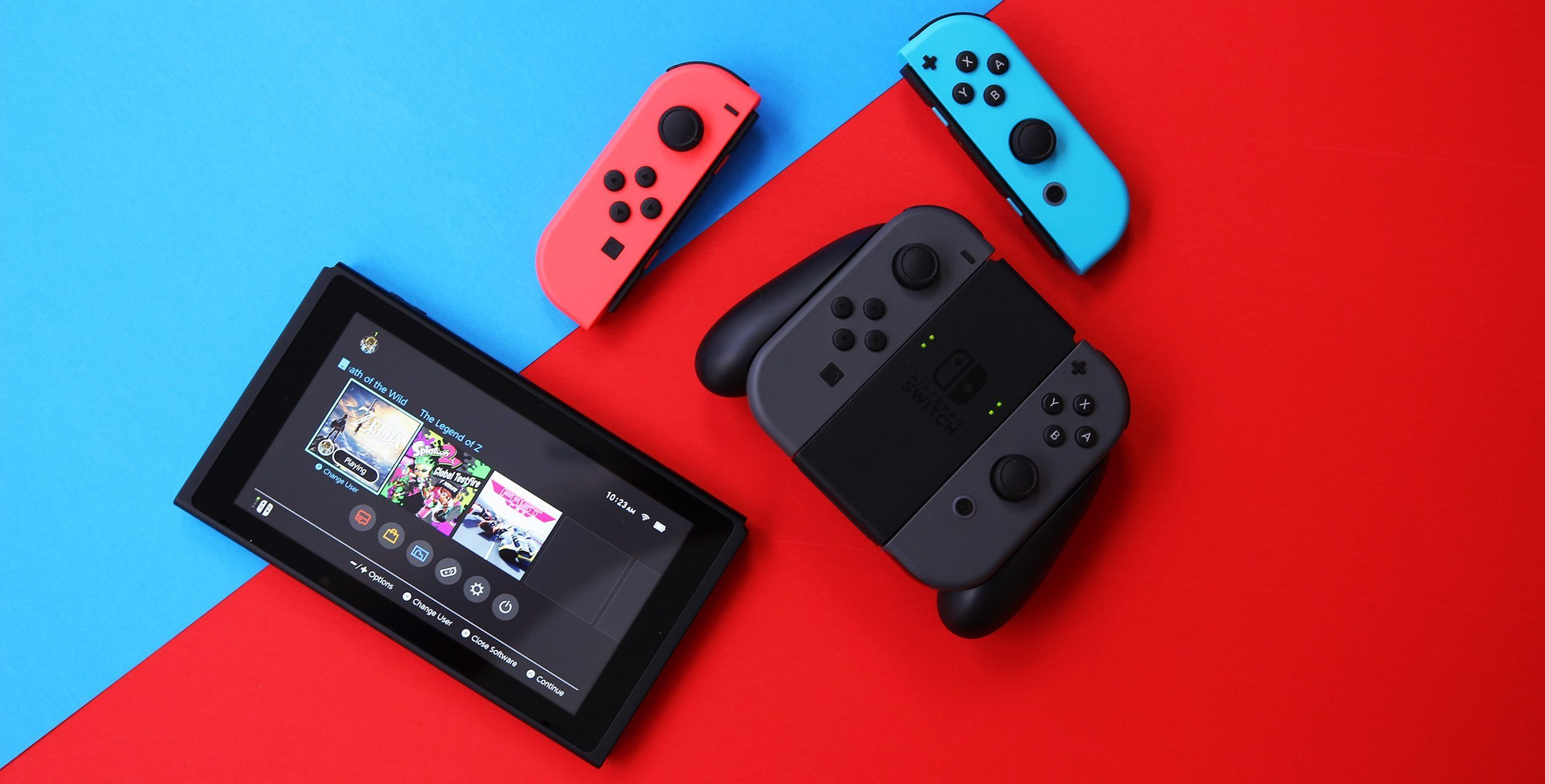 Google Chrome Nintendo Swtch joy-con
