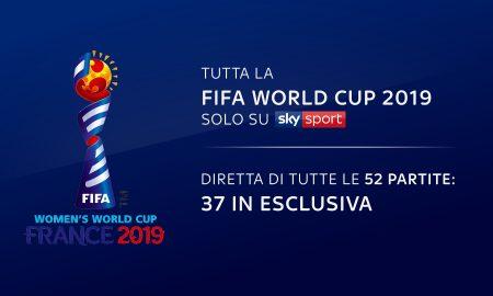 La FIFA World Cup Femminile di Francia 2019 sarà trasmessa, in esclusiva, su Sky Sport