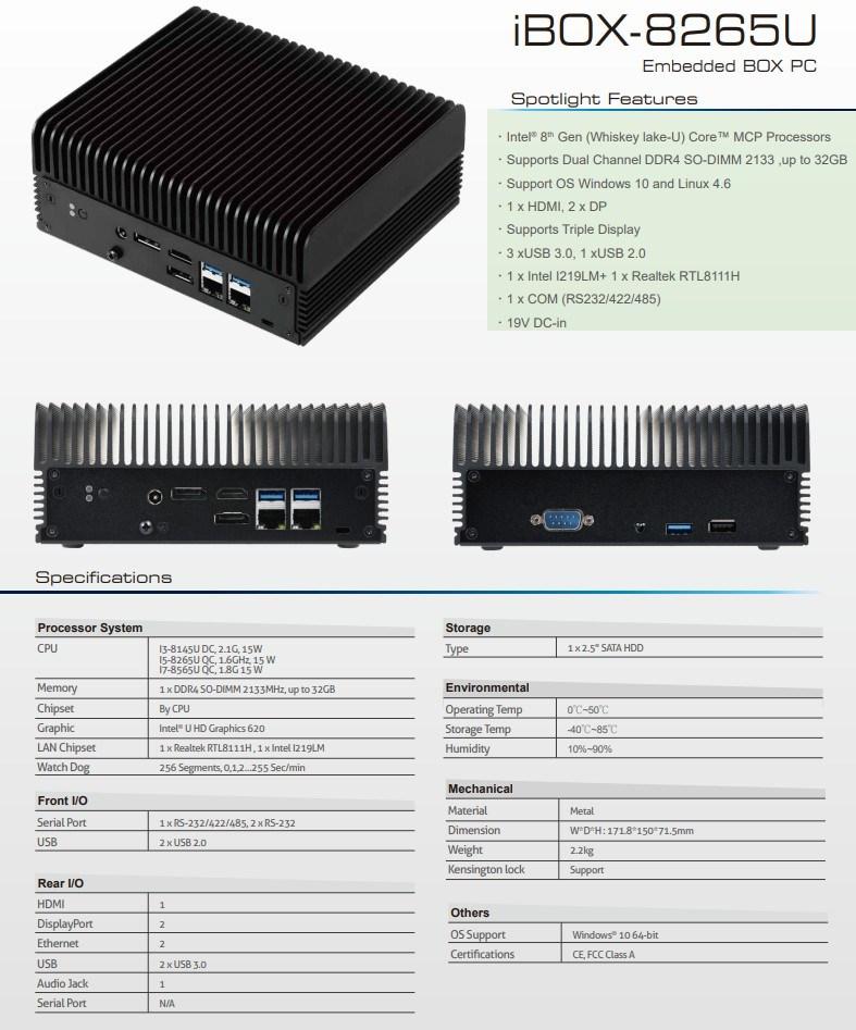 ASRock iBOX è un Mini PC fanless con CPU Intel Whiskey Lake-U 2