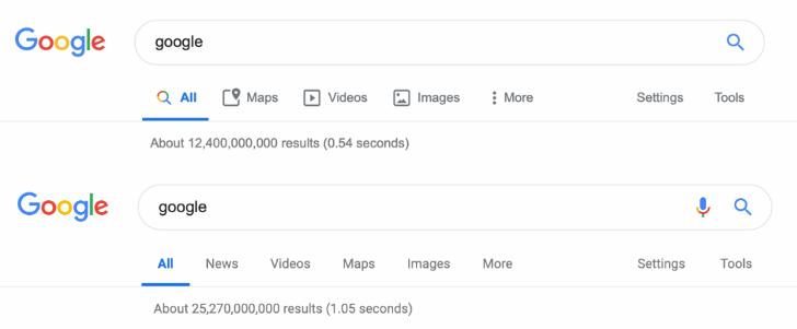 Google nuova UI ricerca desktop