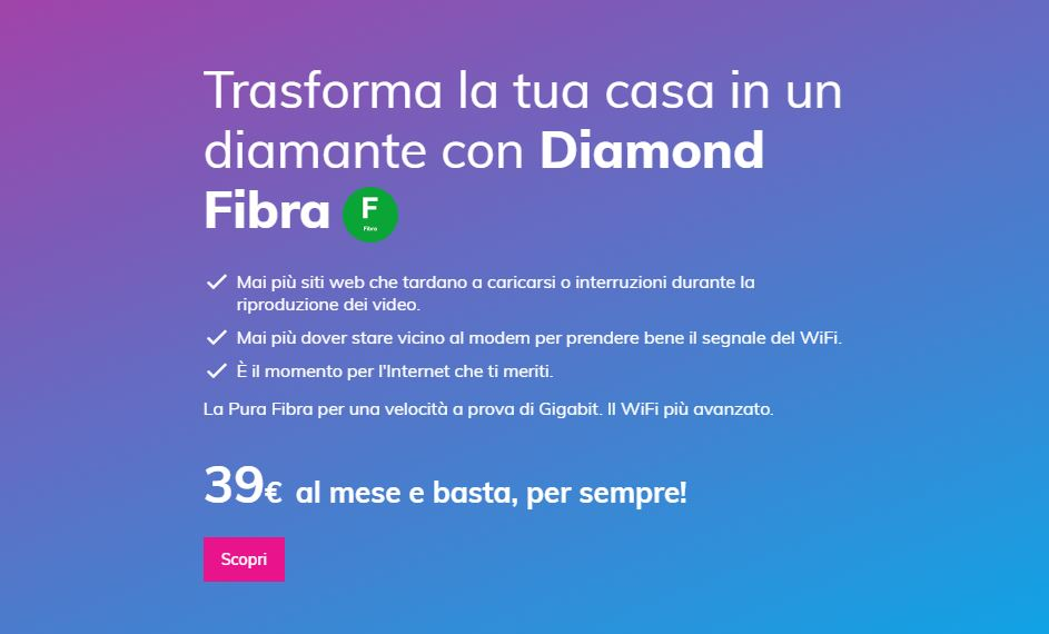 Melita Italia Diamond Plus FTTH Open Fiber