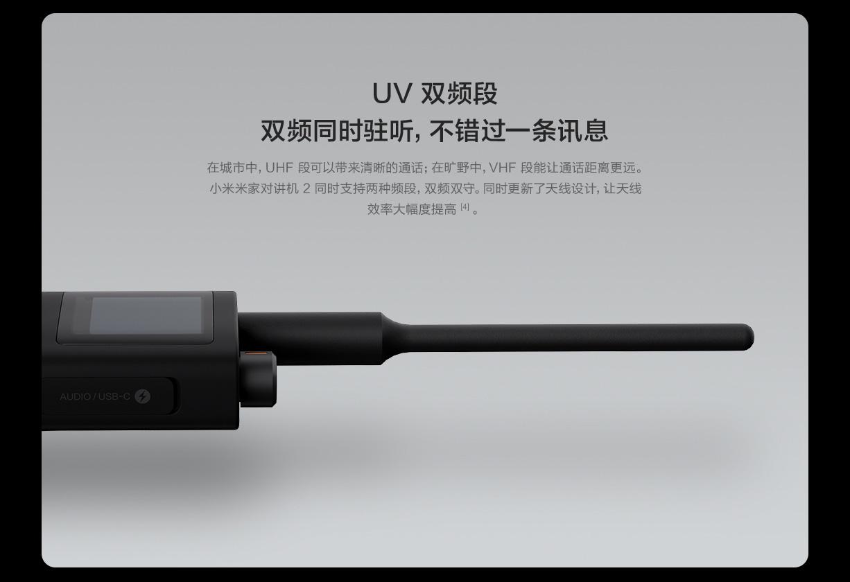 Xiaomi lancia il nuovo Mijia Walkie Talkie 2 con copertura fino a 6 KM 1
