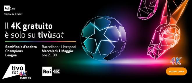 Barcellona - Liverpool staserà 1° maggio alle 21.00 su Rai 1 e Rai 4K 1
