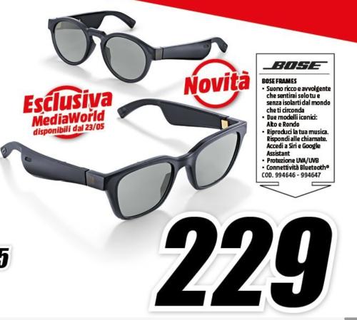 Gli occhiali da sole Bose Frames con audio integrato arrivano in esclusiva da Mediaworld a 229 euro 1