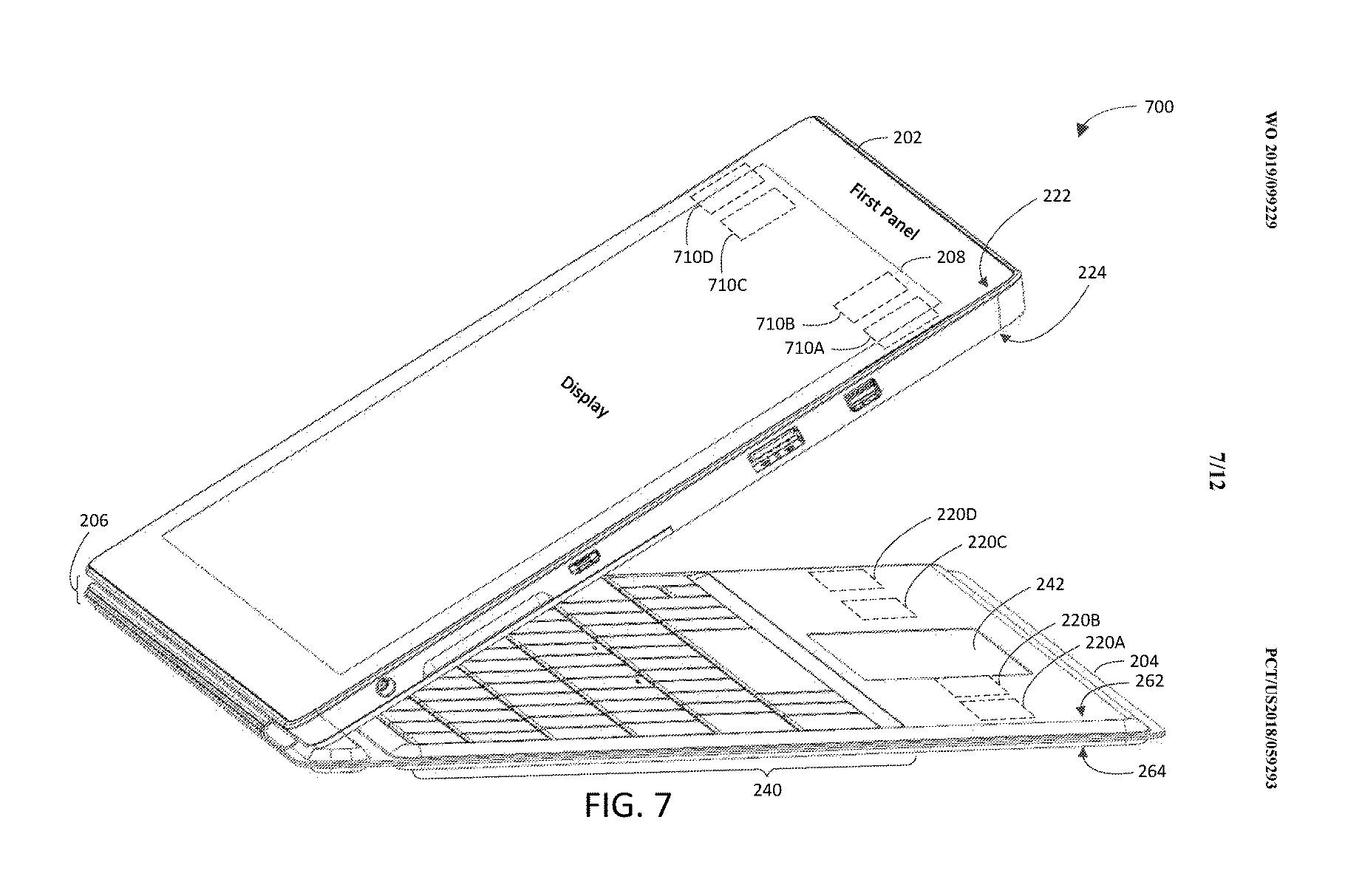 Microsoft Surface Pro 7 brevetto