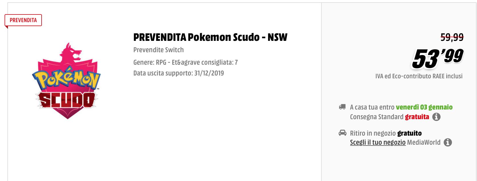 Pokémon Spada e Scudo potrebbero arrivare a dicembre 2019 secondo Mediaworld 1