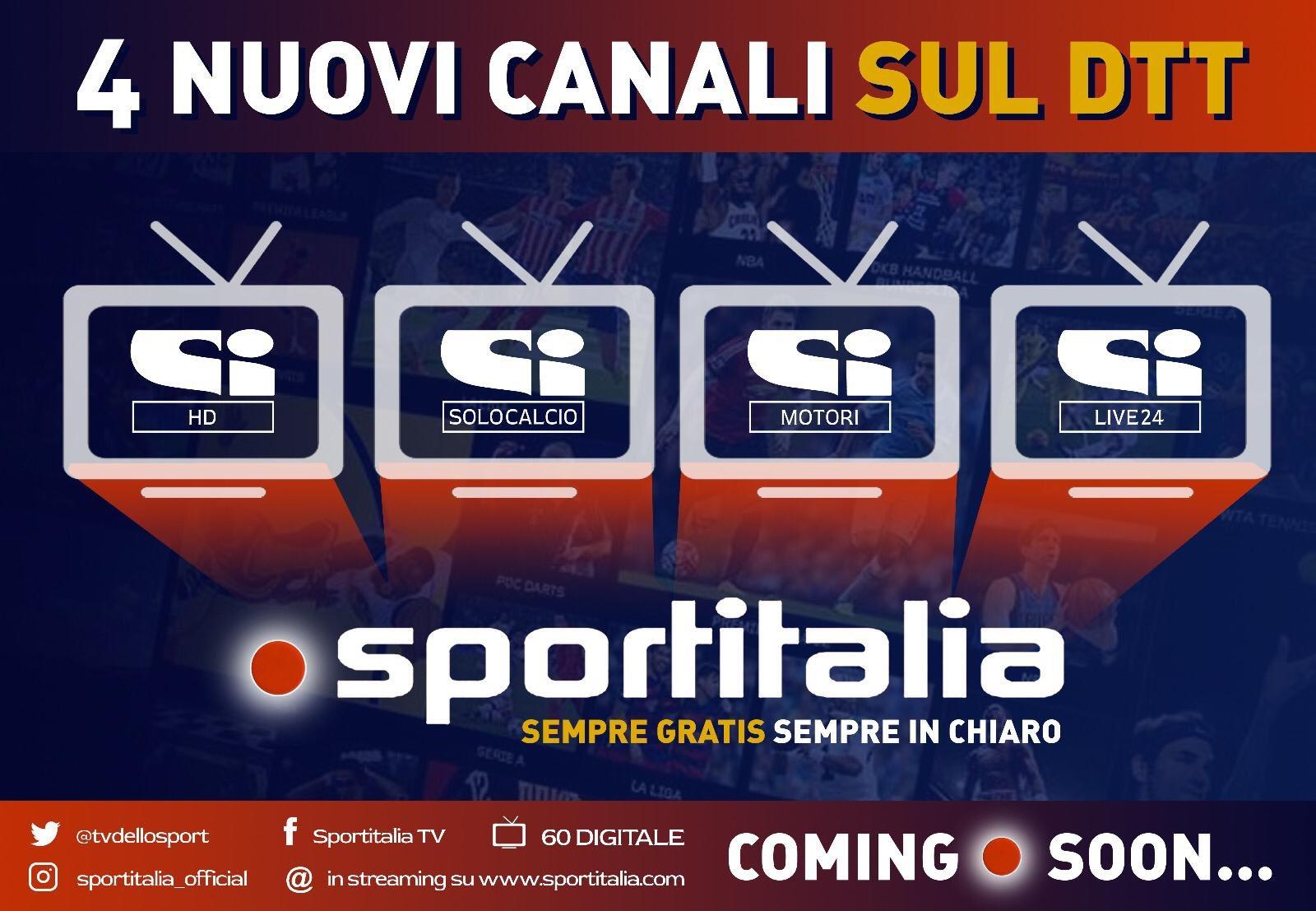 Sportitalia canali tematici Sportitalia HD, SI Solo Calcio, SI Motori e SI Live24 HbbTV