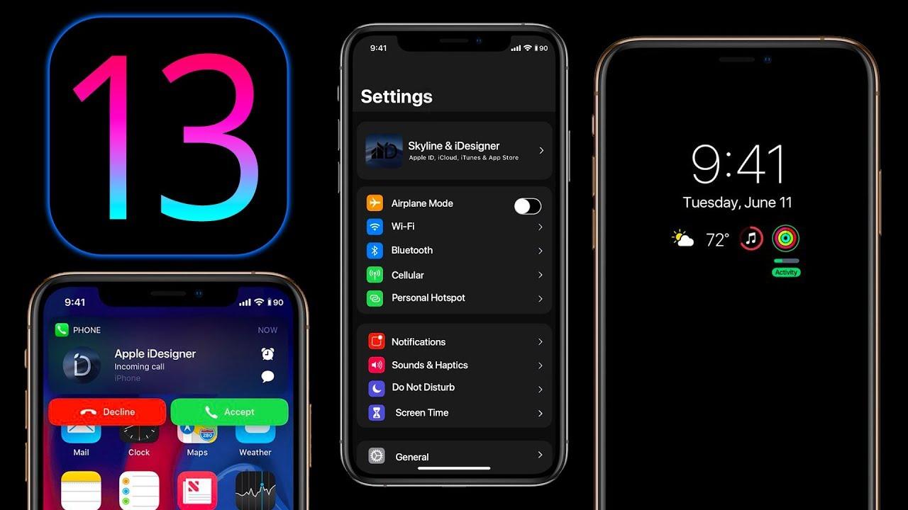 iOS 13 Dark Mode concept