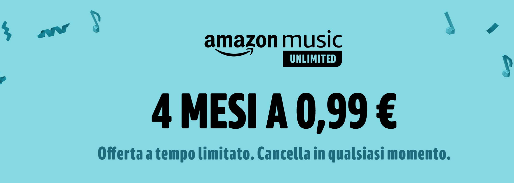 Amazon Music Unlimited offerta Prime Day 2019