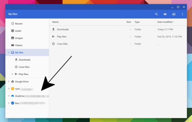 Chrome OS 75 app Linux accesso USB