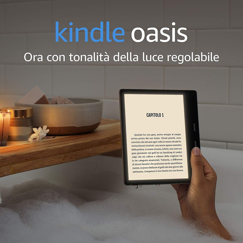 Amazon lancia il Nuovo Kindle Oasis 2019, ebook reader top di gamma che non scende a compromessi 1