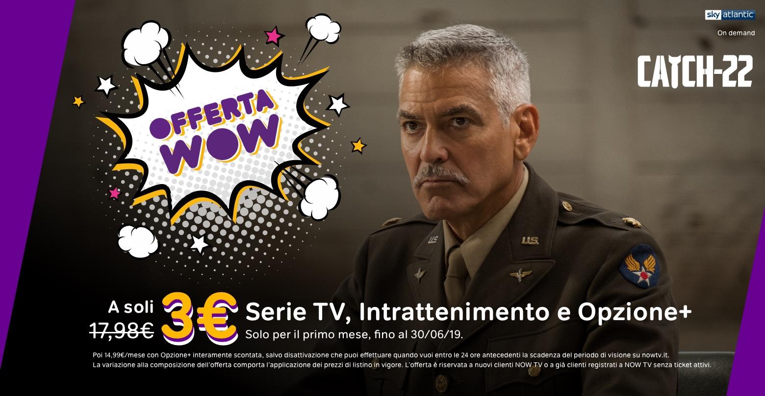 Now Tv offerta WOW 3 euro
