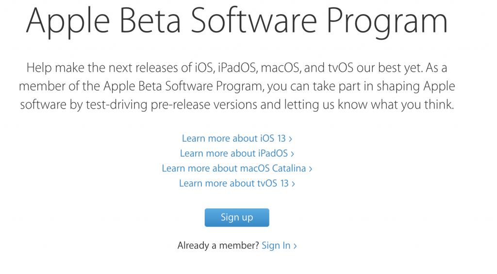 Come installare la Beta pubblica di iOS 13, iPadOS 13, macOS 10.15 e tvOS 13 1