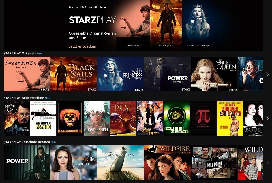 StarzPlay Apple TV Canali