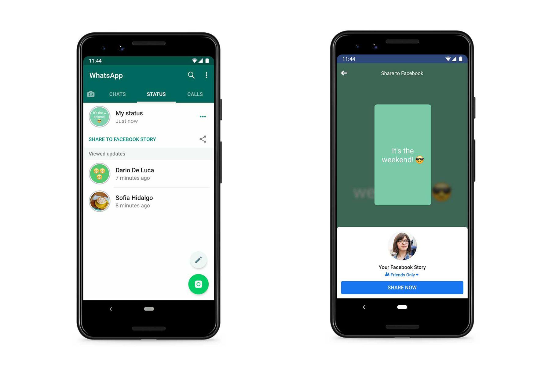 WhatsApp condivisione Stato