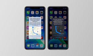 iOS 13 mappe app posizione