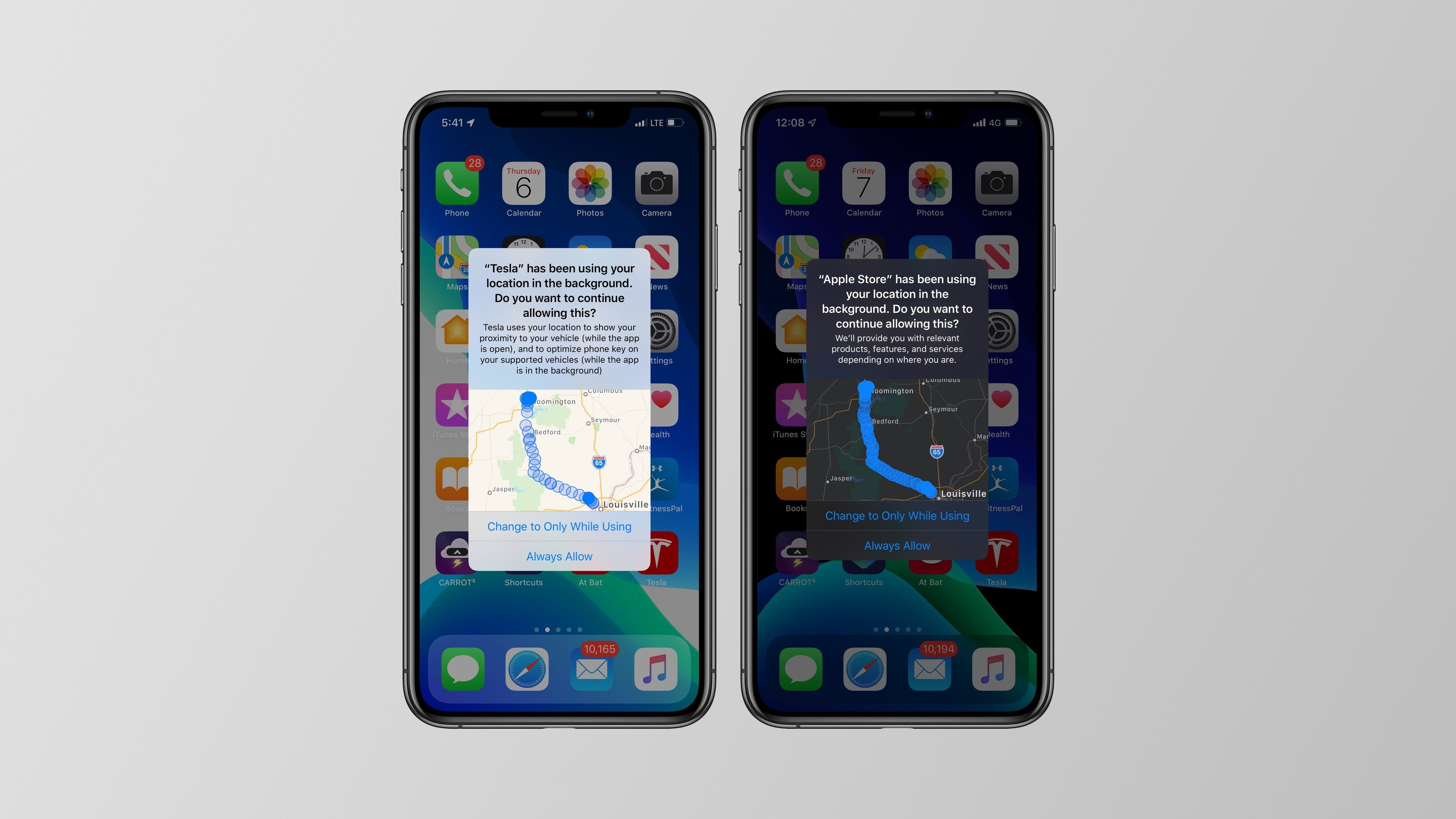 iOS 13 mappe app posizione