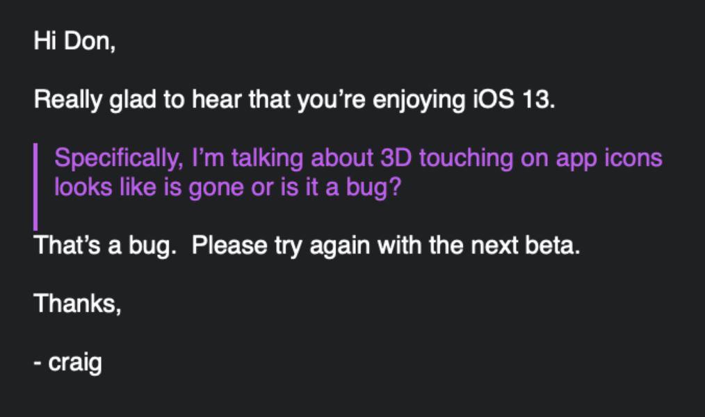 Il 3D Touch non verrà rimosso in iOS 13, parola di Apple 1