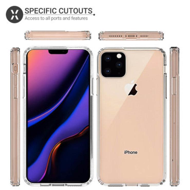 Nuovi render delle cover di iPhone XI Max confermano la tripla fotocamera posteriore 1