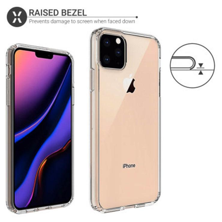 Nuovi render delle cover di iPhone XI Max confermano la tripla fotocamera posteriore 3