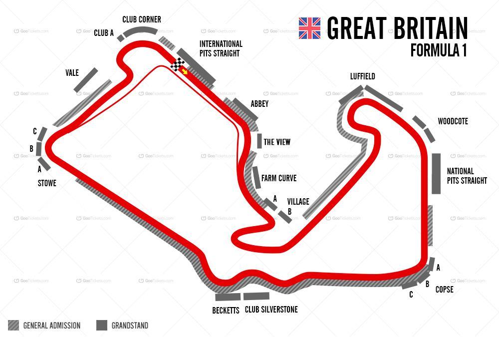 Come vedere il GP di Formula 1 di Gran Bretagna 2019 in Streaming e TV 1