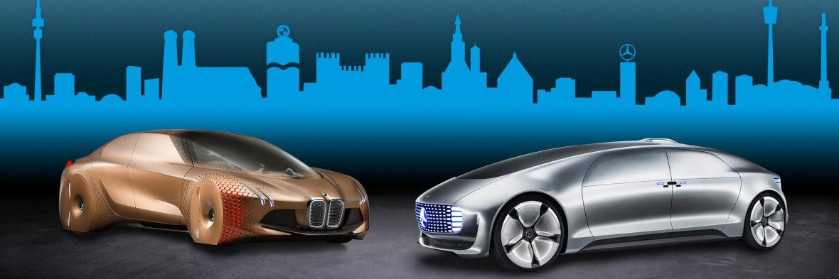 BMW e Marcedes auto a guida autonoma