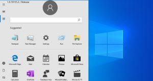 Windows 10 nuovo menu Start senza Live Tile